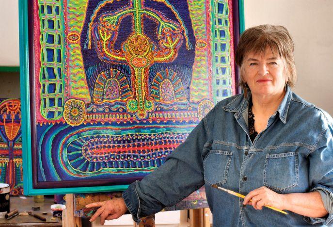Cleone Cull in her Studio in 2007
